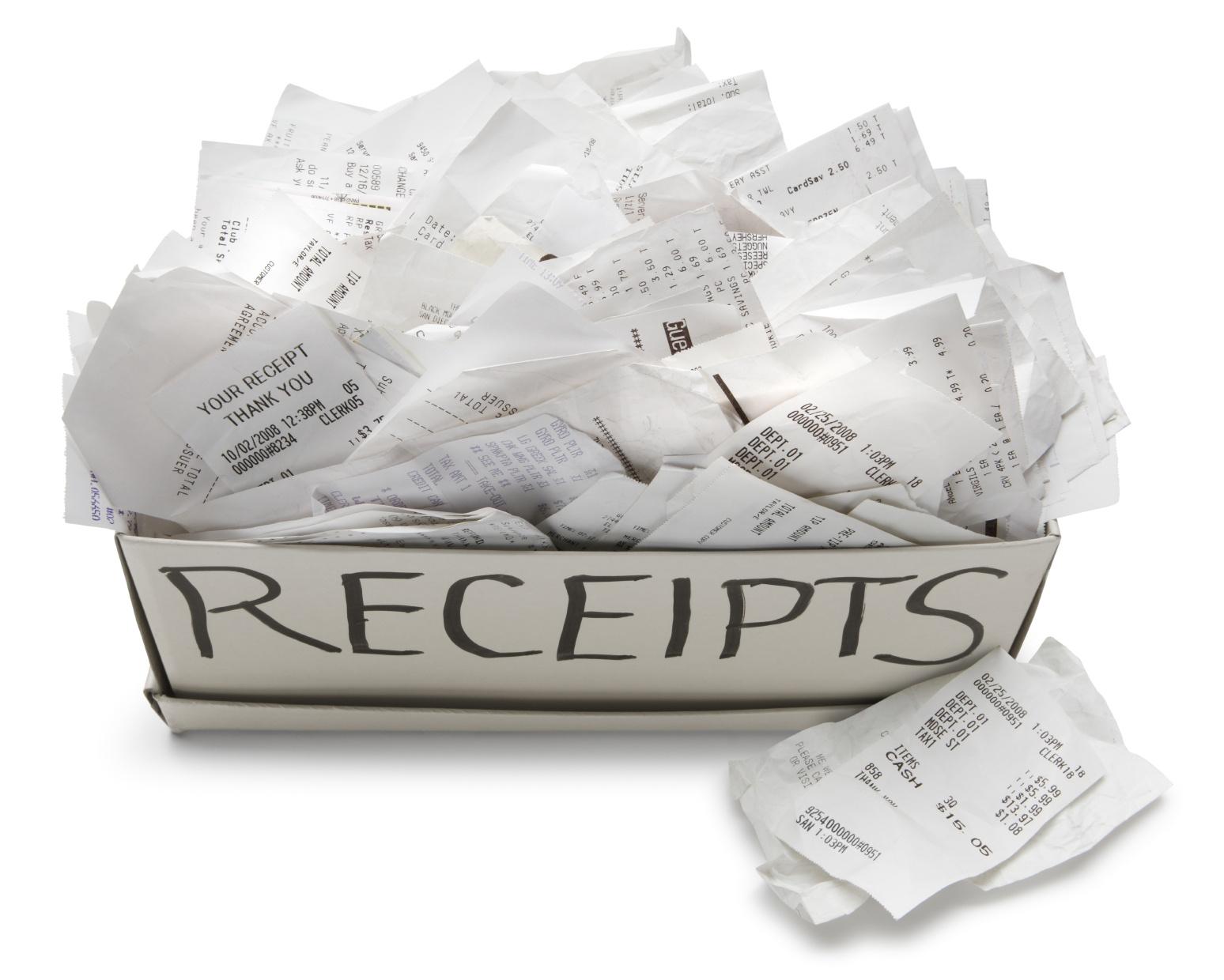 Receipts Everywhere?