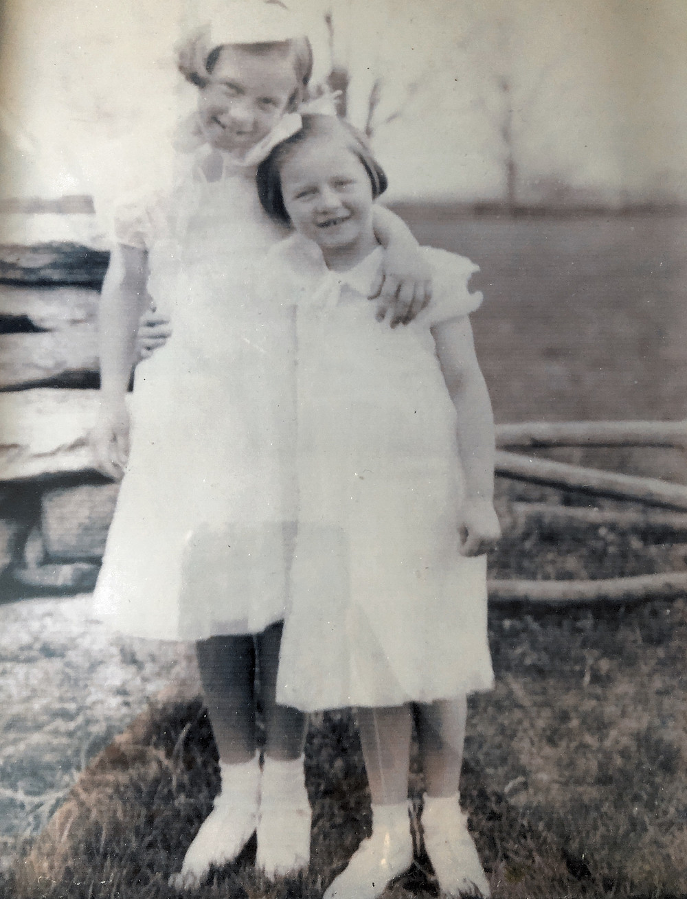 My Aunt, age 10 and my Mom, age 6