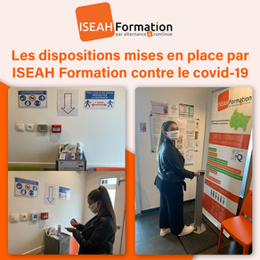 ❗️ #COVID-19 / NEWS - LES DISPOSITIONS MISES EN PLACE PAS ISEAH Formation CONTRE LE COVID-19