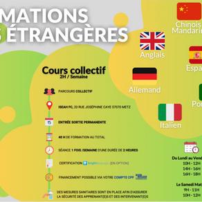 Formation Langues étrangères à distance ou en présentiel sur Metz