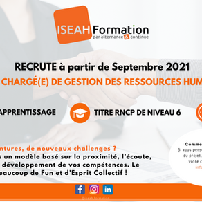 ISEAH Formation RECRUTE !
