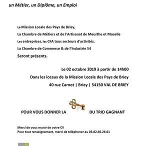 🗓️02/10/19 - FORUM CAP SUR L'ALTERNANCE 2019 - BRIEY
