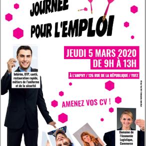 """🗓️ 05/03/20 - 9ème édition de la """"Journée pour l'Emploi""""- YUTZ"""
