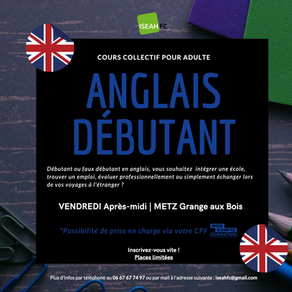Anglais débutant - Certification BRIGHTLANGUAGE
