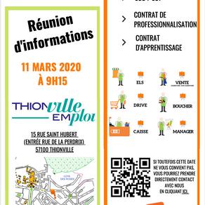 🗓️ 11/03/20 - REUNION D'INFORMATIONS - THIONVILLE EMPLOI
