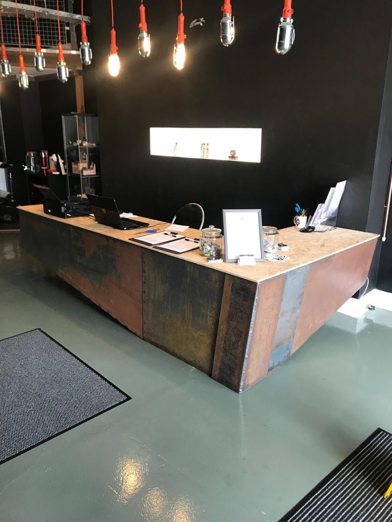 tattoo parlour desk