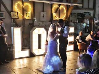 5ft love light hire