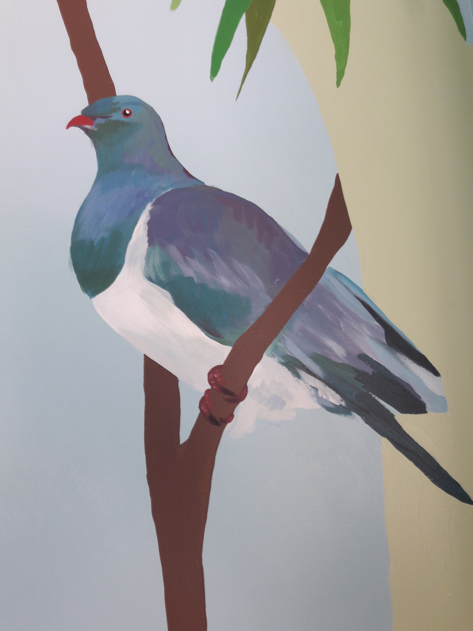 Kereru on Flynn's mural