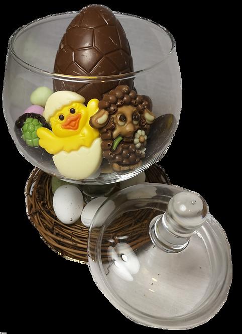 Bonbonnière met paaschocolade