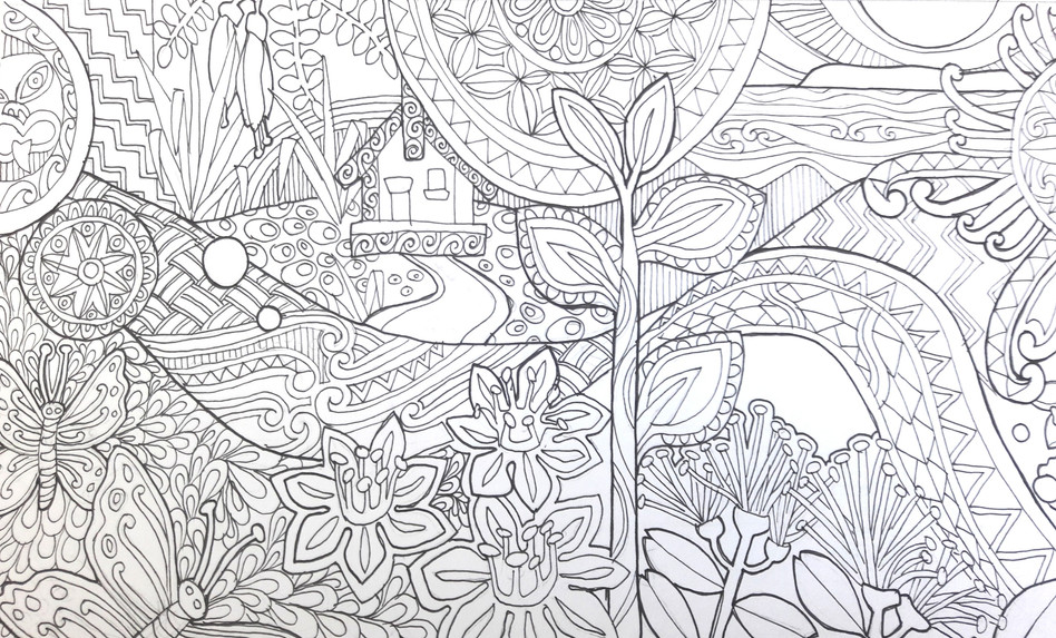 Margaret Tolland's colouring-in