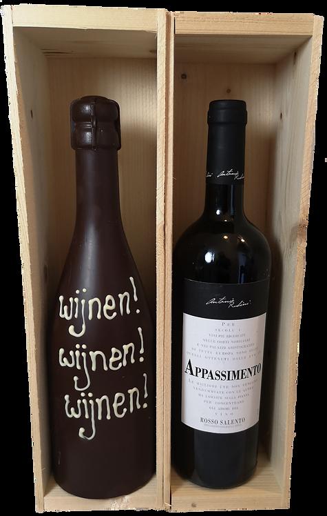 Chocolade-wijn duo rood