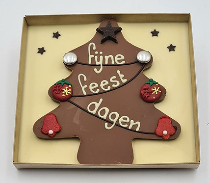 Kerstboom in chocolade