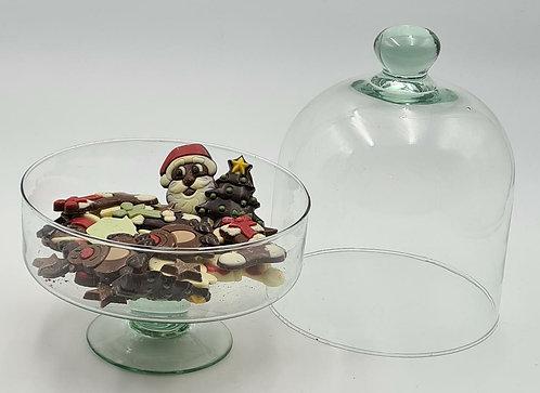 Glazenstolp met chocolade en bonbons