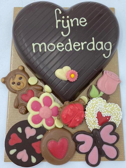 Chocolade hart voor moeder
