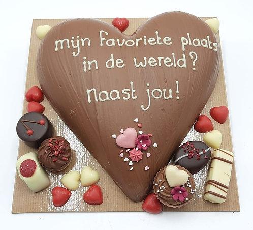 Chocolade hart, in een wereld naast jou