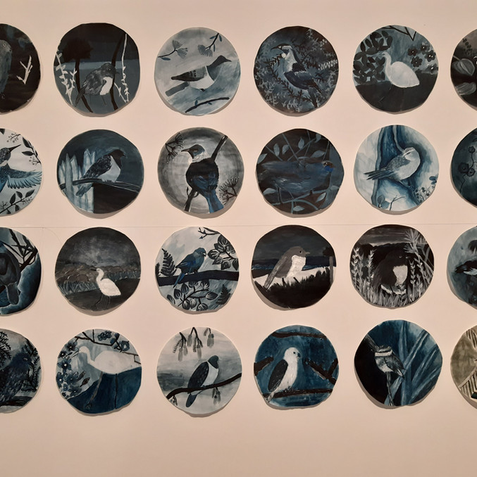 Work by Samuel Marsden Collegiate students completed during Margaret Tolland's residency