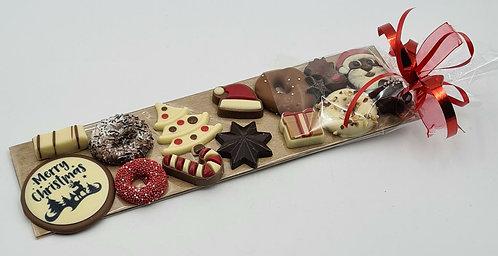 Bonbons op een plankje