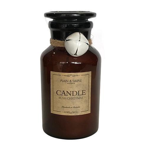 Christmas Candle 40hr - Bush Christmas - Bell/Amber