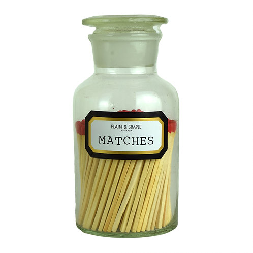 Apothecary Matches - Clear in Gift Box