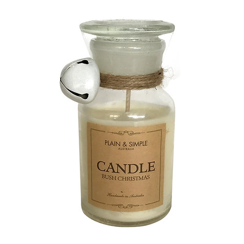 Christmas Candle 40hr - Bush Christmas - Bell/Clear