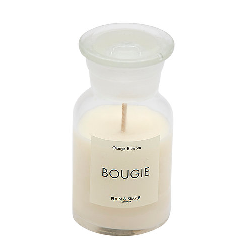 De Base Bougie Clear Candle - Orange Blossom