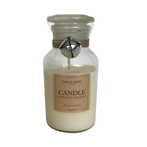 Christmas Candle 40hr - Under the Mistletoe - Bell/Clear