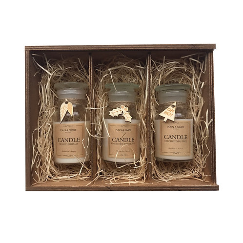#15 Gift Box - Christmas Candles (Wood))