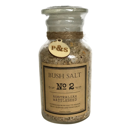 Gourmet Food Salts - Wattleseed (Clear Glass)