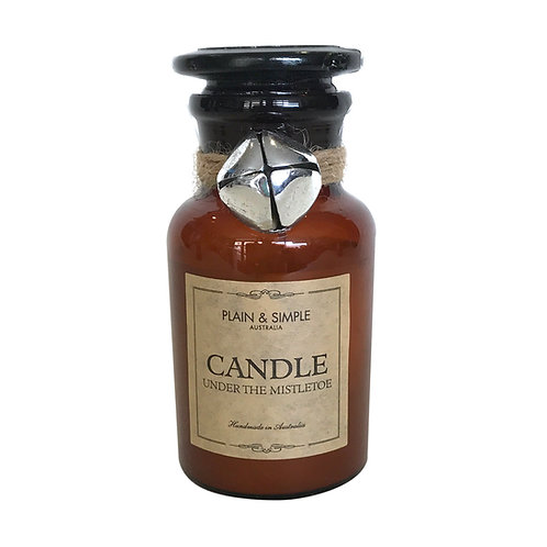 Christmas Candle 20hr - Under The Mistletoe - Bell/Amber