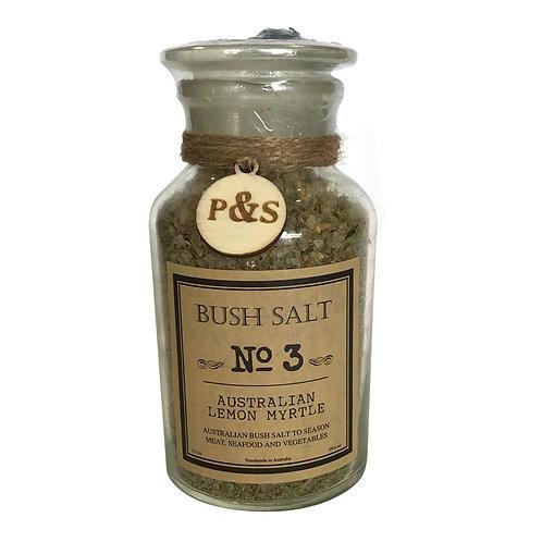 Gourmet Food Salts -Lemon Myrtle (Clear Glass)