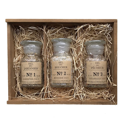 #1 Gift Box - Sampler Gourmet Food Salts