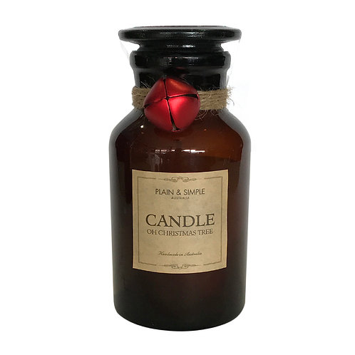 Christmas Candle 40hr - Oh Christmas Tree - Bell/Amber