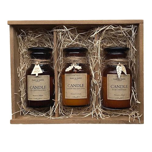 #14 Gift Box - Christmas Candles (Wood)
