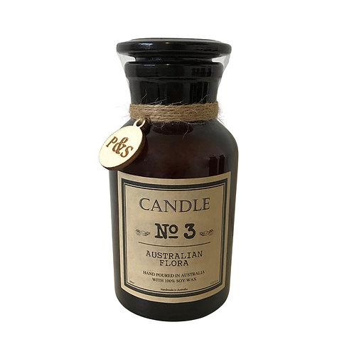 Australian Flora Candle - Amber Glass
