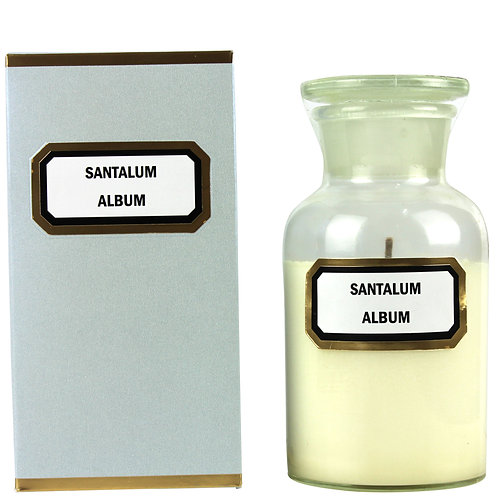 Apothecary Candle Sandalwood - Clear Small