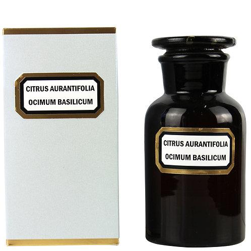 Apothecary Candle Lime Basil Mandarin -Amber Large