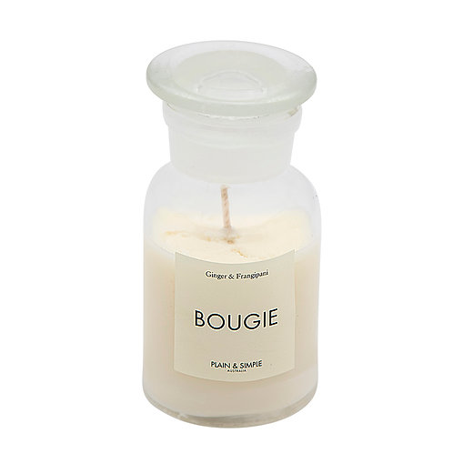 De Base Bougie Clear Candle - Ginger and Frangipani