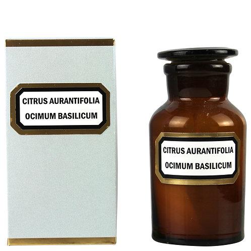 Apothecary Candle Lime Basil Mandarin -Amber Small