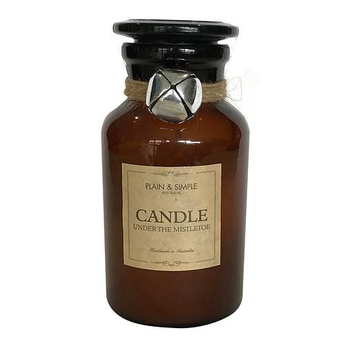 Christmas Candle 40hr - Under the Mistletoe - Bell/Amber