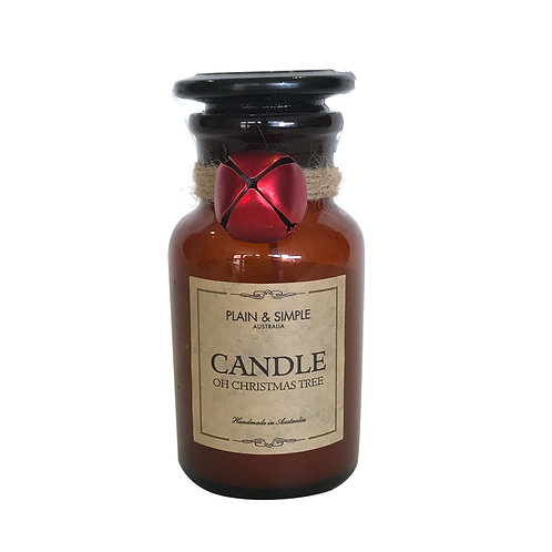 Christmas Candle 20hr - Oh Christmas Tree - Bell/Amber