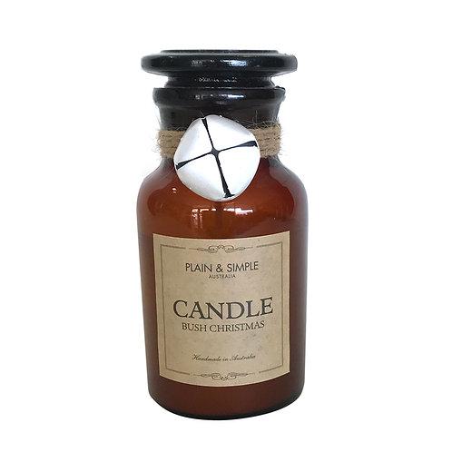 Christmas Candle 20hr - Bush Christmas - Bell/Amber