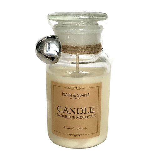 Christmas Candle 20hr - Under The Mistletoe - Bell/Clear