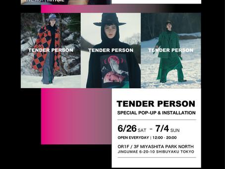 【イベント】7月3日(土) MOVEMENT×TENDER PERSONアフターパーティー開催!