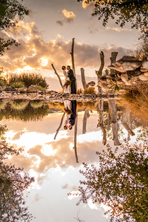 Sunset creative romantics at the Beautiful Galway Downs in Temecula