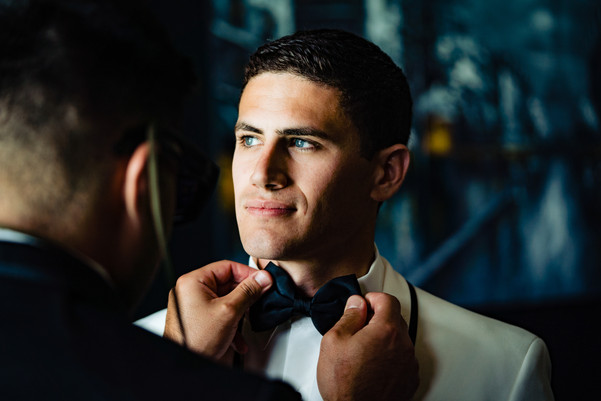 Groom Getting ready at the Marquess Wedding Venue in Murietta CA.