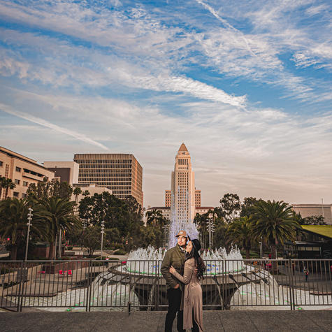 Grand Park engagement photos