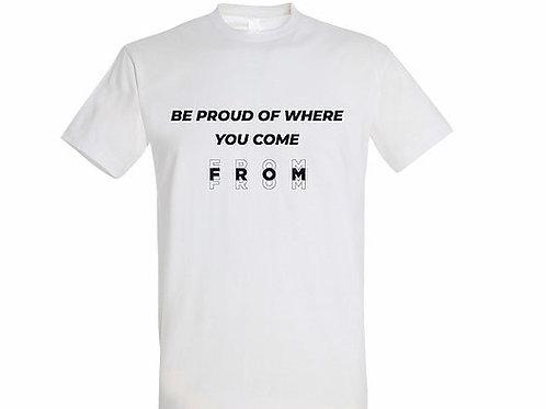 T-shirt Citation blanc