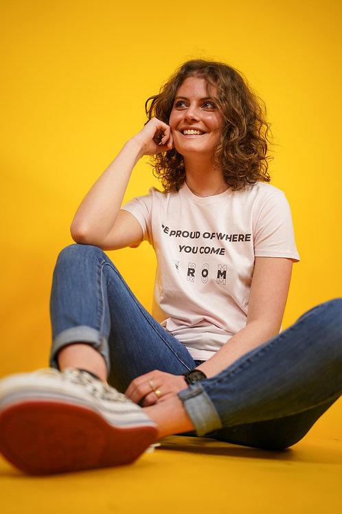 T-shirt BIO Citation rose pâle