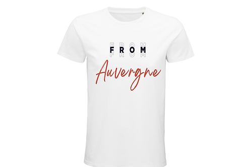 T-shirt BIO Auvergne blanc