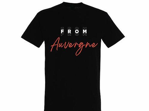 T-shirt Auvergne noir